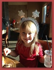 Ayla with snowflake headband