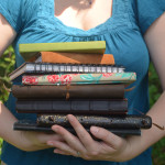 Here are some of my journals, all of which I've written in over many mornings!