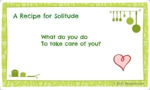 A recipe for solitude